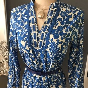Cynthia Rowley batik style cotton blouse 💙